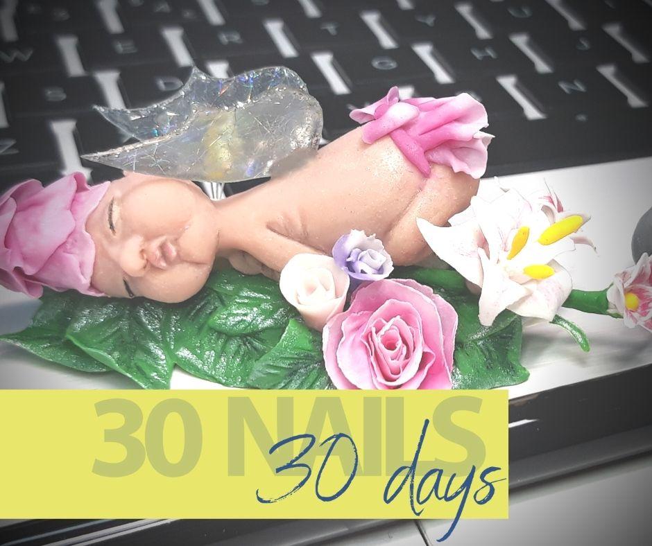 3D baby nail art